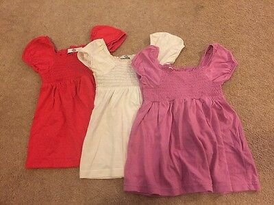 Set Of 3 Girls Short Sleeve Tshirts From Marks And Spencer 2-3 Years