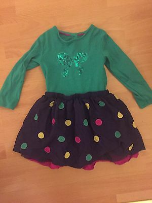 Baby Girls Party Sequin Marks And Spencer Dress 18-24 Months 1-2 Years