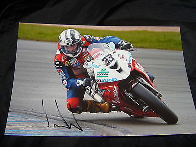 Michael Dunlop Signed 2014 Bsb British Superbikes 12 X 8 Photo