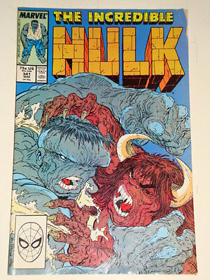 Marvel Hulk The Incredible Issue # 341 March 88 'savage Bull' Average Con