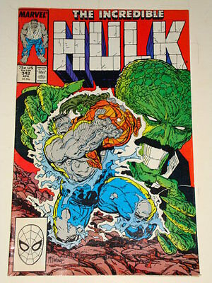Marvel Hulk The Incredible Issue # 342 April 88 'no Human Fears' Good Con