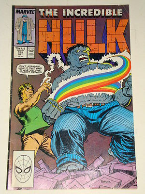 Marvel Hulk The Incredible Issue # 355 May 1989 'now You See It...' Average Con