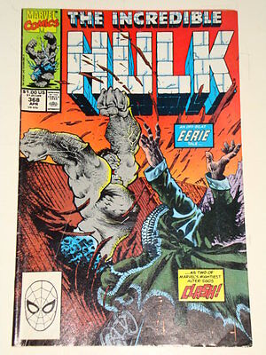 Marvel Hulk The Incredible Issue # 368 Apr 1990 'natural Selection' Below Av Con