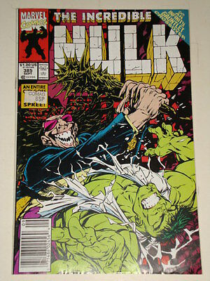 Marvel Hulk The Incredible Issue # 385 Sept 1991 'dark Dominion' Good Condition