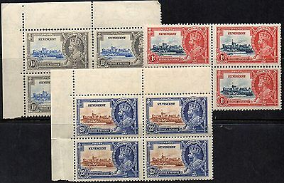St Vincent  1935  Jubilee  Three *** M N H *** Blocks