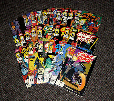 GHOST RIDER lot of 25 Marvel Comics #1-6, 8-18, 20, 22-24, 29, 30, 40, 50 VF/NM