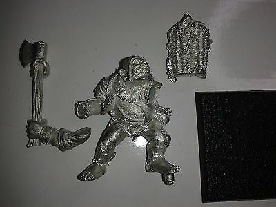 Warhammer Empire Mordheim Ogre Bodyguard with Axe, metal rare Frostgrave