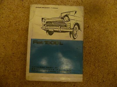 Original 1963 Fiat 1500L 1ST Edition Body Parts Manual Catalogue 500