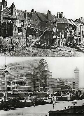4 REPRODUCTION PHOTO POSTCARDS of OLD LONDON SCENES