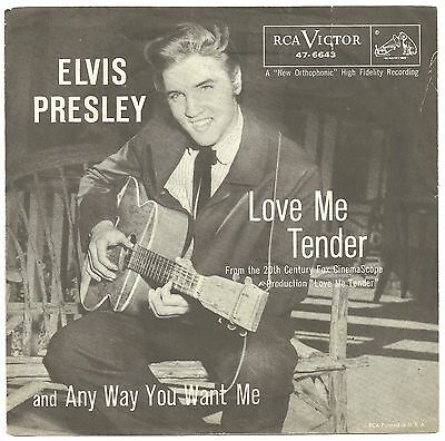 Elvis Presley - 4 different US Love me tender singles with all 4 colour PS'.