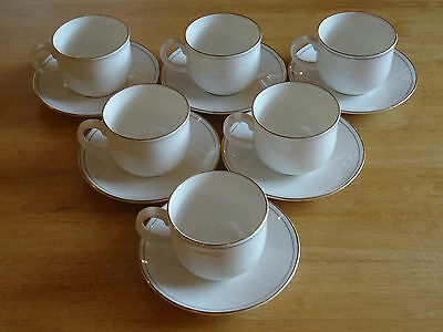 Six M&S St Michael Lumiere Tea Cups and Saucers