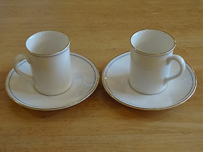 Two M&S St Michael Lumiere Coffee Cans and Saucers
