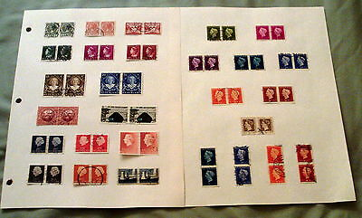 215+ Mainly Fine Used Netherlands Stamps In Pairs & Blocks.