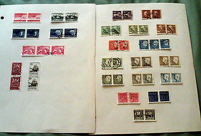 48 Mainly Fine Used Sweden Stamps In Pairs & Blocks.