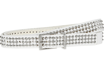 NEW Zadig & Voltaire White Studded Leather Belt with tag RRP £150