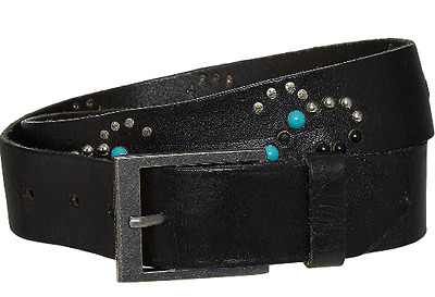 NEW Zadig & Voltaire Black Studded Leather Belt with tag RRP 120 euros