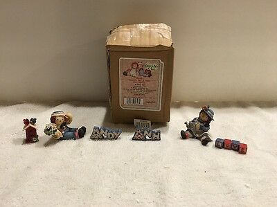 Enesco Raggedy Ann And Andy 6 Piece Mini Figurines Set. #546623