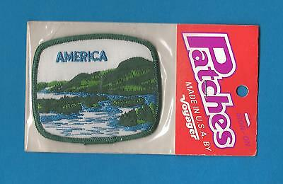 America USA Iron On Hat Jacket Hoodie Biker Vest Backpack Travel Patch Crest D