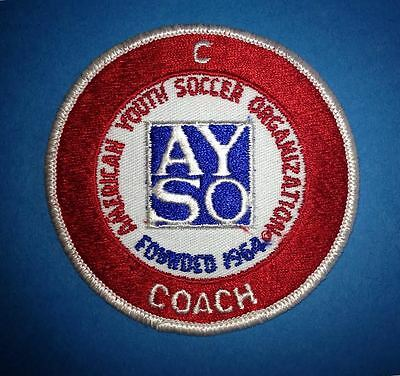 Vintage AYSO American Youth Soccer Organization Coach Jacket Shirt Patch Crest B