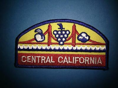 Vintage Central California Iron On Hat Jacket Vest Backpack Travel Patch