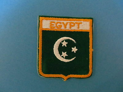 EGYPT Velour  Shield Patch Hat Jacket Biker Vest Travel Country Crest A