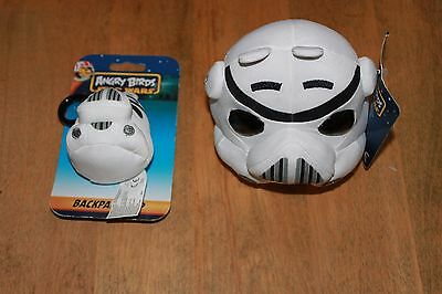 """Star Wars Angry Birds 5""""  Stormtrooper plush + Backpack clip (New)"""