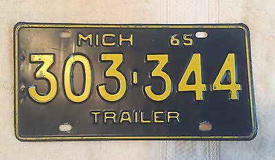 Vintage 1965 Michigan License Plate FREE SHIPPING Visit My eBay Store