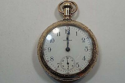 1891 Waltham Bartlett Pocket Watch 15 Jewels 18S Hinged Case (Running) A639