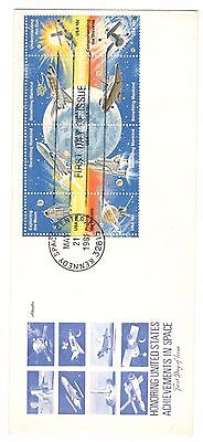 Usa Cover Fdc 1981 Un-Addressed Usa Achievements In Space Space Stamps