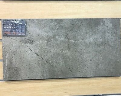 Cement Grey Porcelain Floor and Wall Tile 300x600 Rectified VB36911