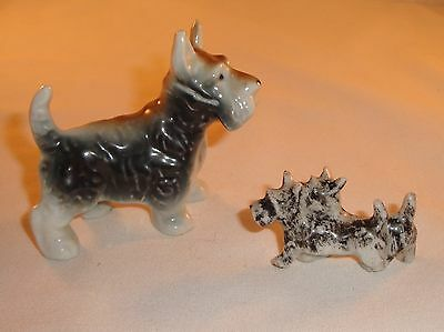 Scottish Terriers Scotty Dogs China Figurines Japan