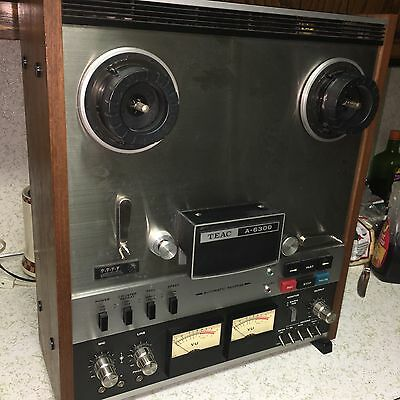 """Teac A-6300 ( 7"""" & 10.5"""") Reel To Reel Tape Deck Recorder"""