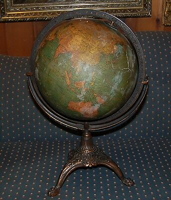 "12"" Terrestrial Globe On Cast Iron Base"