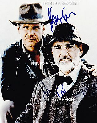 """SEAN CONNERY & HARRISON FORD `signed` 8x10"""", original was obtained at UACC show"""