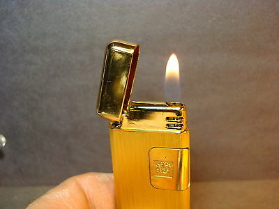 Vtg Colibri Touch Sensor Lighter_Gold Plate_Works Nicely_Excellent Cond_Japan