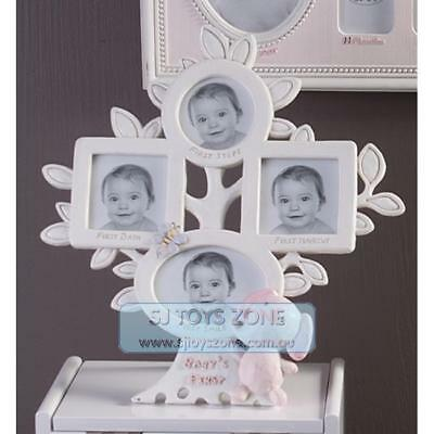 Kids Baby's First Moments Multi Photo Frame Holds 4 Picture Nursery & Home Decor