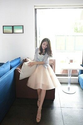 New Women's Spring And Summer 6 Layer A-Line Girls Adult Long Tulle Skirts Dress