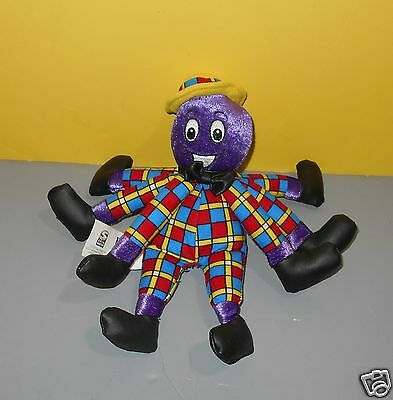 "2003 Spin Master The Wiggles 8"" Henry The Purple Octopus Bean Stuffed Plush"