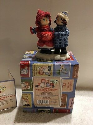"Enesco Raggedy Ann and Andy #709050 ""To Have A Friend Is To Be Happy"""