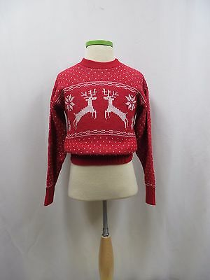 Vintage Sweater 60s Children Deer Novelty Unisex  NOS Tags