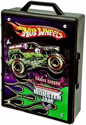 Hot Wheels Monster Jam 15 Truck Carry Case Storage Organize Travel 1:64 Handle