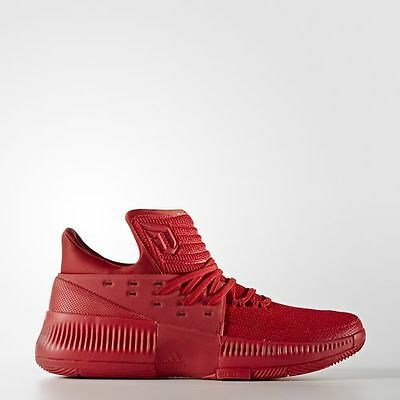 New Mens Adidas D LILLARD DAME 3 basketball shoes red scarlet BB8337 roots 11.5