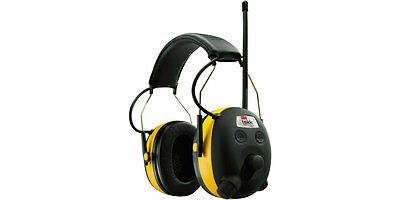 3M (PELTOR) WorkTunes Hearing Protector MP3 Compatible with AM/FM Radio Earmuff