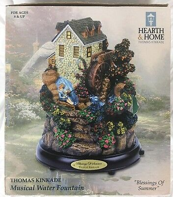 """Blessings of Summer"" by Thomas Kinkade Musical Water Fountain By Hearth & Home"