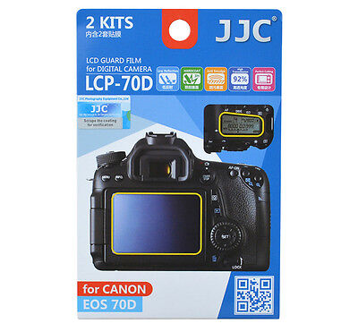 JJC 2kits LCD Guard Film Camera Screen Display Protector Cover for Canon EOS 70D