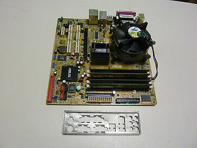 ASUS P5LD2-VM DH Motherboard Pentium D Duo 3.4GHz CPU 4GB DDR2 w/ Backplate