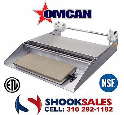 """Omcan 14428 Commercial Stainless Steel Food WRAPPING MACHINE One Roll 18"""" NSF NY"""