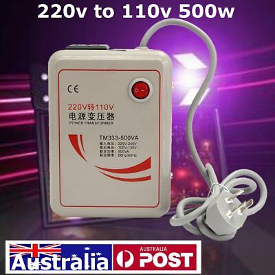 220V to 110V 500W Voltage Transformer Converter Step Down Device 50/60Hz Iron