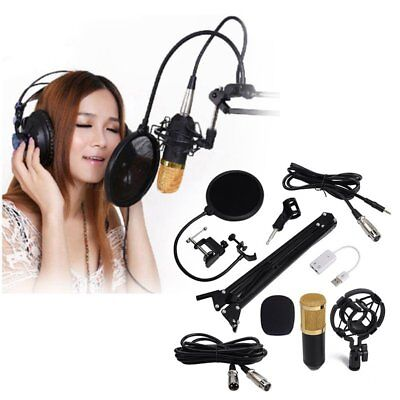 BM800 Pro Condenser Microphone Kit Home Studio Sing Hosting Audio Sound Record