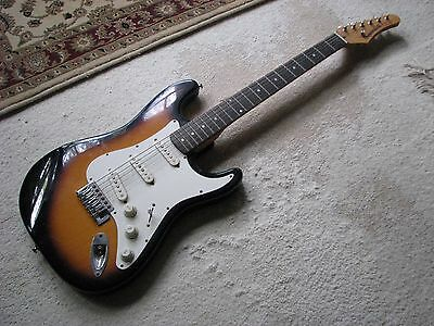 Samick guitar with lead and carry case